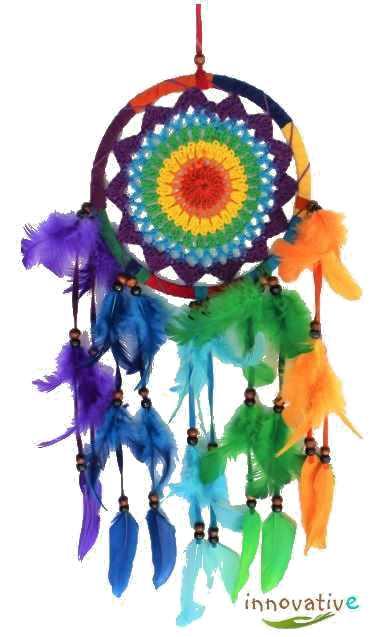 attrape rêves couleurs de l'arc en ciel