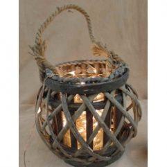 lampe lanterne boule rotin corde innovative ganges
