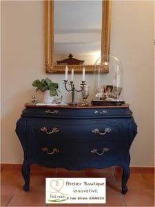 commode relookée sous miroir doré